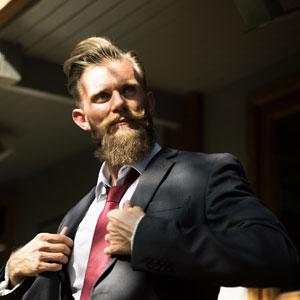 Bartpflege und -styling